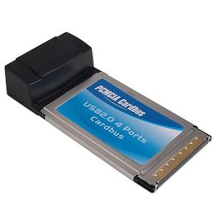 PCMCIA 4-Port USB 2.0 Cardbus Adapter