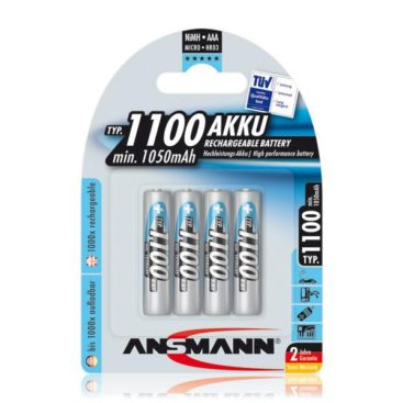 Akku Ansmann AAA Micro 1100mAH  (4 Pcs)