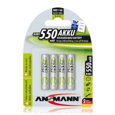 Akku Ansmann AAA Micro 550mAH (4 Pcs)