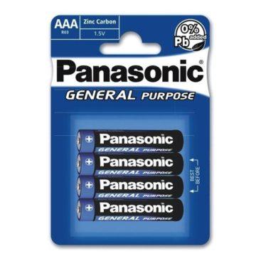 Batterie Panasonic (Blue) General R03 Micro AAA (4 St.)