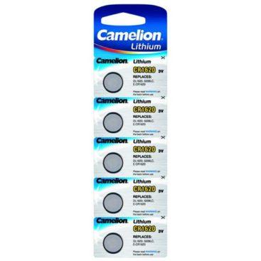 Camelion Lithium Battery CR1620 3V (5 pcs.)