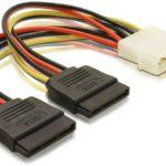 Molex to 2x SATA Power Cable