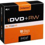 Intenso DVD+RW 4,7 GB 4x Speed - 10pcs Slim Case