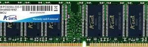 A-Data 512MB DDR PC3200 400MHz CL2.5 (ADNGB1916)