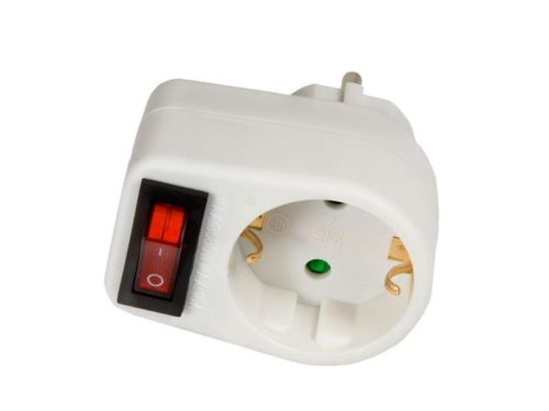 Arcas plug adapter single with switch