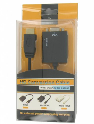 HDMI to VGA + Audio Converter Cable
