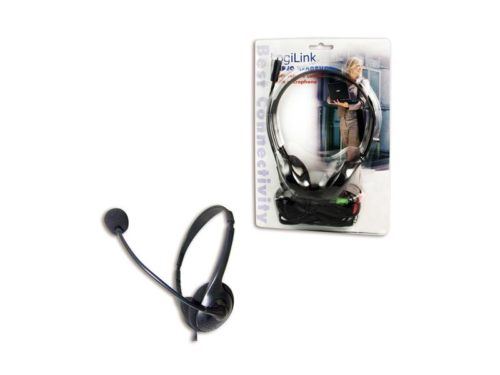 LogiLink Stereo Headset with microphone black (HS0002)