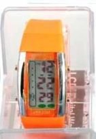 Persopolis unisex watch with silicone orange