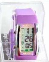 Persopolis unisex watch with silicone strap purple