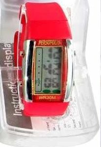Persopolis unisex watch with silicone strap Red