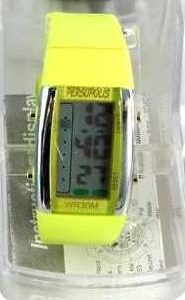 Persopolis unisex watch with silicone strap yellow