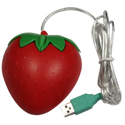 Strawberry Style USB 3D Optical Mouse
