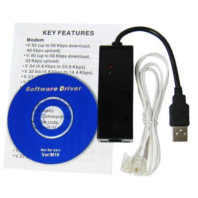 USB External V.90/ V.92 56K Fax Modem