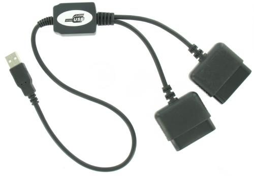 PS2 (Playstation) to USB (pc) Double Adapter / Converter