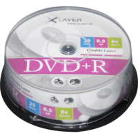 1 τεμάχιο Double Layer DVD+R XLAYER 8x 8.5GB 215 Λεπτών