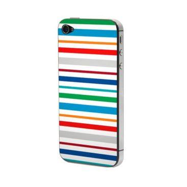 Προστατευτικό Αυτοκόλλητο για iPhone 4/4S (Stripes)