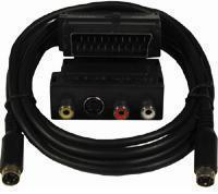 SCART ADAPTOR + S-VIDEO CABLE 5M