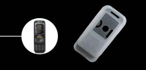 Silicon Case For Sony Ericsson W850 CLEAR