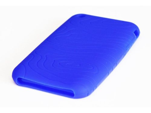 Silicone Full Cover Case for iPhone 3G/3GS Blue