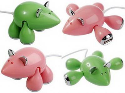 Small Mouse 4 USB HUB, USB1.1