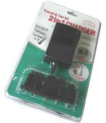 Travel & Car kit Charger 2 in 1