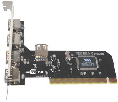 USB 2.0 4+1 Ports PCI Card