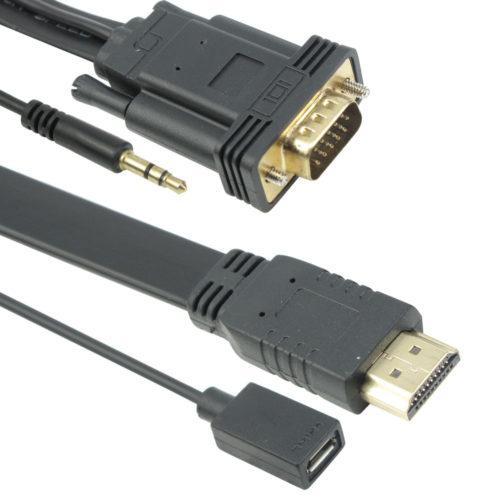 cable detech hdmi vga