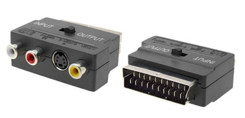 adapter scart jacks cinch and s-video