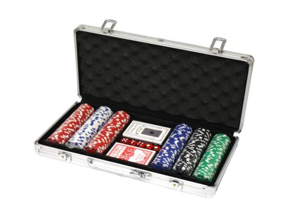 300 Poker Chips with Aluminiumcase (11,5 Gramm, Chips DELUXE)