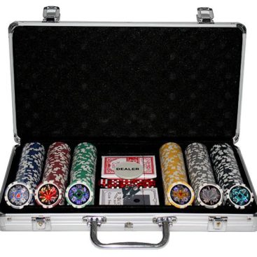 300 Poker Chips with Aluminiumcase (11,5 Gramm, Chips LASER)