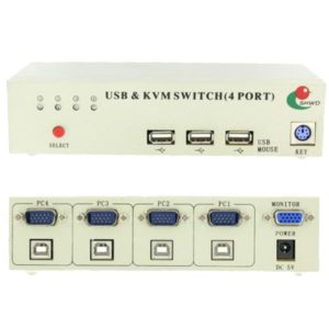 4 Port USB KVM Switch