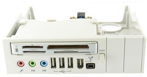 64 in 1 - 5.25'' White Panel Cardreader USB Firewire Audio