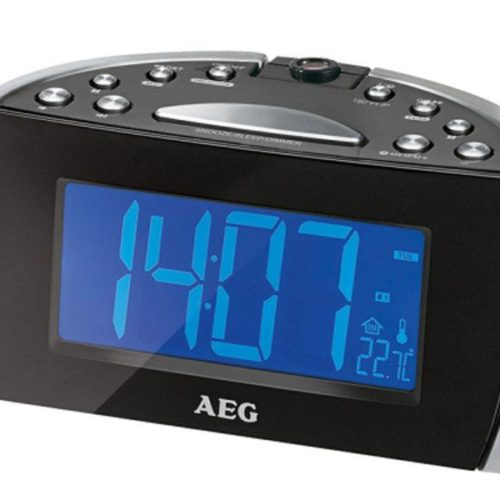 AEG Clock radio with time projection MRC 4119 P N Black