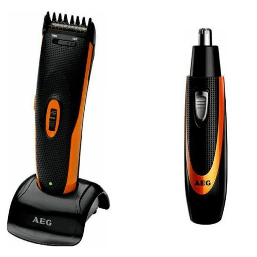 AEG Hair- and Beard-Trimmer with Nose- and Ear-Hair-Clippers HSM