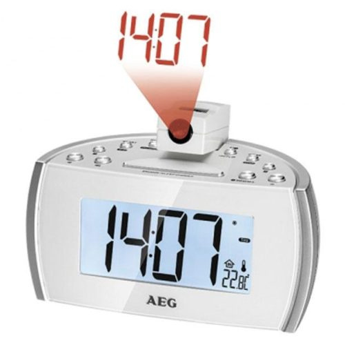 AEG MRC 4119 P N Clock radio with time projection White