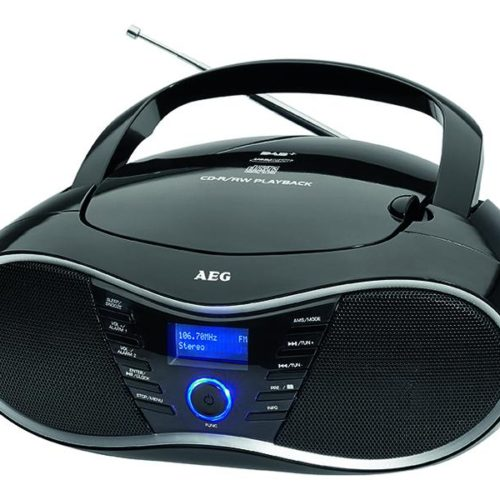 AEG SR 4380 DAB+ Stereo radio with CD player Black