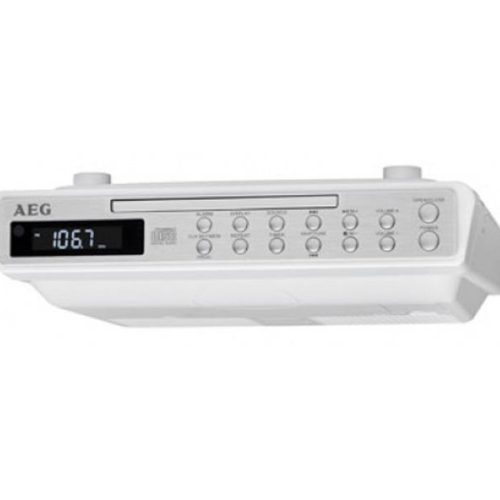 AEG Stereo Kitchen Clock Radio with CD KRC 4376 CD white