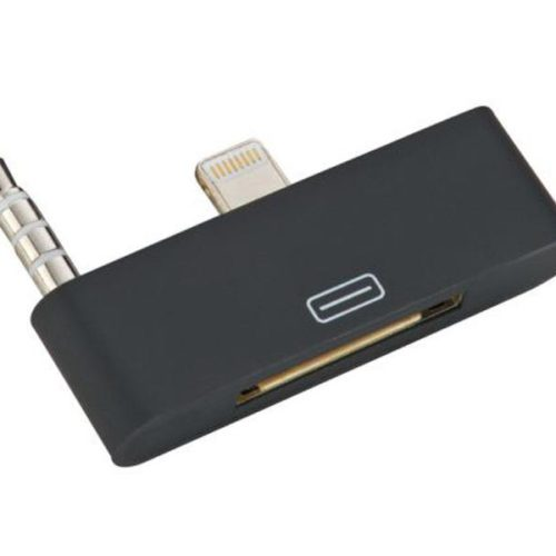 Audio Adapter 8pin to 30pin for iPhone 5 (black)