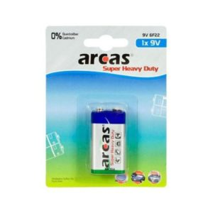 Battery Arcas 9V Block (1 Pcs.)
