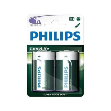 Battery Philips Longlife R20 Mono D (2 pcs.)