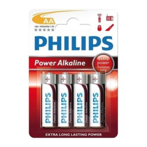 Battery Philips Power Alkaline LR06 Mignon AA (4 pcs)