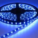 Blue 60led Black PCB 5m IP65
