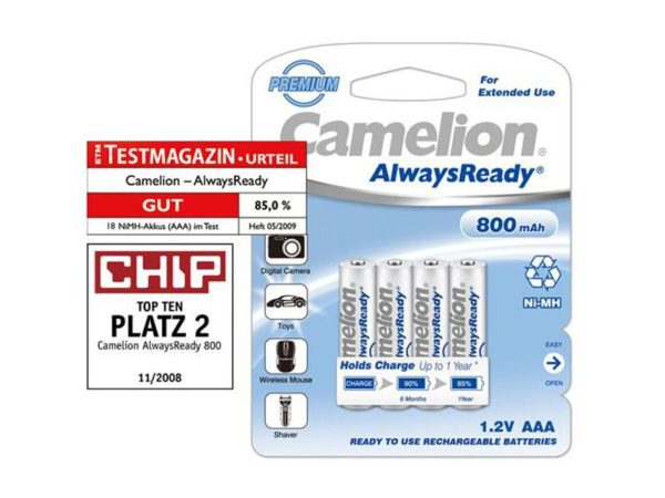 Camelion Rechargeable Batteries Always Ready Micro Aaa