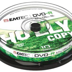 EMTEC DVD-R 4,7 GB 16x Speed - 10pcs Cake Box