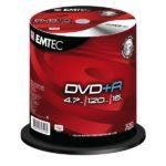 EMTEC DVD+R 4,7 GB 16x Speed - 100pcs Cake Box