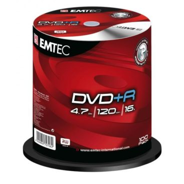 EMTEC DVD+R 4,7 GB 16x Speed - 100pcs Cake Box
