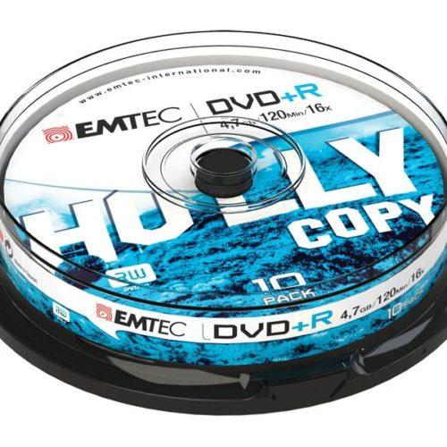 EMTEC DVD+R 4,7 GB 16x Speed - 10pcs Cake Box