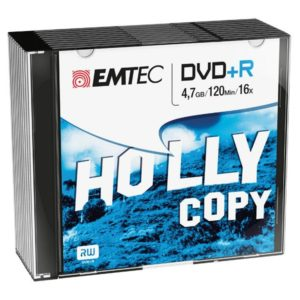 EMTEC DVD+R 4,7 GB 16x Speed - 10stk Slim Case