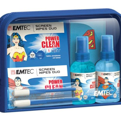 EMTEC Travel Essentials kit, Superman and Wonder Woman
