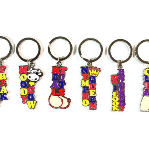 Erotic Key Rings - Key holder (6x6 different motives = 36 Pieces) SET-337